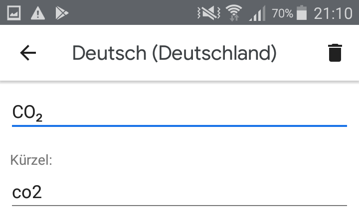 Textersetzung in Android